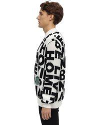 Stella McCartney Block Words Cotton Knit Jumper - Black