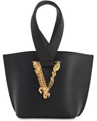 Versace ブラック ミニ Virtus バケット バッグ