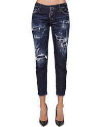 "DSquared² Kürzere Jeans Aus Denim ""jennifer"" - Blau"