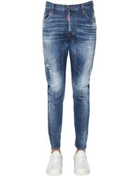 DSquared² - 17cm Tidy Biker Cotton Denim Jeans - Lyst