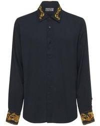 Versace Jeans Couture Baroque ビスコースシャツ - ブラック