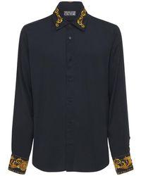 Versace Jeans Couture - Вискозная Рубашка С Принтом - Lyst