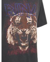 Anine Bing T-shirt En Coton Imprimé Tigre - Noir