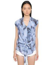 IRO | Printed Silk Crepe De Chine Top | Lyst