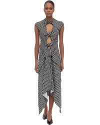 Proenza Schouler Printed Stretch Viscose Cady Midi Dress - Черный