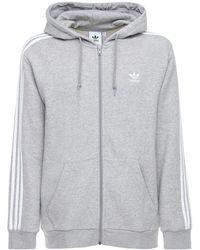 "adidas Originals - Hoodie ""3-stripes Fz"" - Lyst"