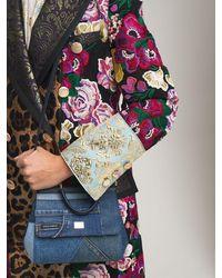 Dolce & Gabbana Сумка Из Денима Small Sicily - Синий