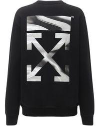 Off-White c/o Virgil Abloh Jersey-sweatshirt Mit Druck - Schwarz