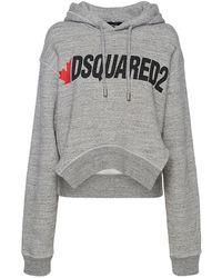 DSquared² Худи Из Хлопка D2 - Серый