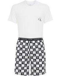 Calvin Klein Pyjama Aus Baumwolle - Weiß