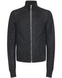 Rick Owens Куртка Из Грубой Кожи - Черный