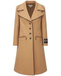 Gucci Шерстяное Пальто - Многоцветный
