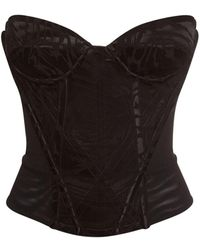 Vivienne Westwood Fargo Tiger-jacquard Corset - Black
