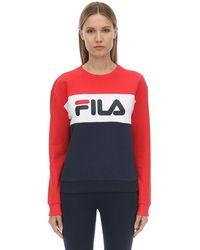 Fila Sweat-Shirt En Coton Mélangé - Rouge