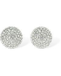 Alessandra Rich Half Sphere Crystal Clip-on Earrings - Mehrfarbig
