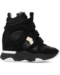 Isabel Marant 60mm Balskee Suede & Leather Trainers - Black