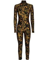 Versace Jeans Couture ストレッチジャージージャンプスーツ - ブラック
