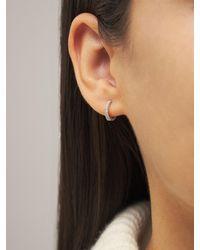 AG Jeans 18ktホワイトゴールド&ダイヤモンドフープピアス - マルチカラー