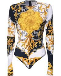 Versace Боди Из Джерси С Принтом - Многоцветный