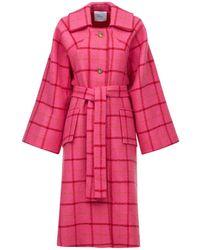 Patou Mantel Aus Wolle Und Baumwolle - Pink