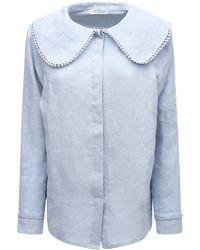Underprotection Рубашка Из Органического Льна - Синий