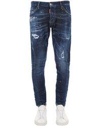 DSquared² Jeans Sexy Twist In Denim Di Cotone 17.5Cm - Blu
