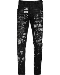 "DSquared² Jeans Cool Guy ""Icon"" De Denim De Algodón - Negro"