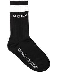 Alexander McQueen Носки Из Смешанного Хлопка - Черный