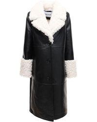 Stand Studio Пальто Из Искусственной Кожи С Тиснением Linda - Черный