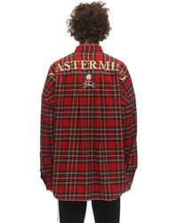 MASTERMIND WORLD - チェックコットンシャツ - Lyst