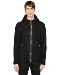 Giorgio Brato - Slim Fit Hooded Shearling Jacket - Lyst