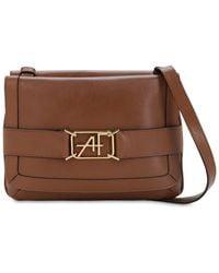 Alberta Ferretti Smooth Leather Shoulder Bag - Brown