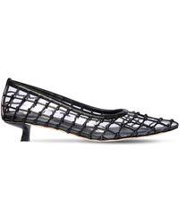 Cult Gaia 20mm Kenny Pvc & Leather Court Shoes - Black