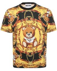 Moschino Teddy Scarf コットンtシャツ - ブラック