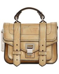 Proenza Schouler Ps1 Micro Leather Bag - Mettallic