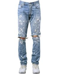 Unravel Project - Enge Jeans Aus Denim - Lyst