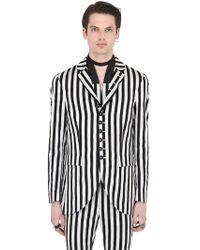 John Varvatos - Striped Cotton Blend Jacket - Lyst