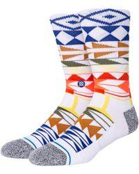 """Stance Socken Aus Baumwollmischung """"warrior"""" - Blau"""