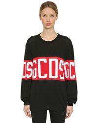 Gcds Logo Knitted Sweater - Black