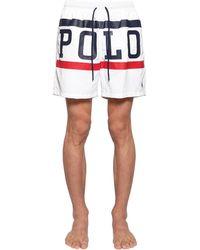 Polo Ralph Lauren Badeanzug Aus Nylon Mit Logodruck - Weiß