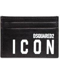 DSquared² Icon レザーカードホルダー - ブラック