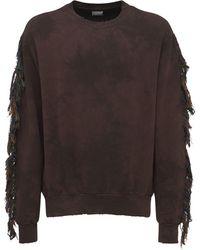Alchemist Fringe Cotton Sweatshirt - Brown