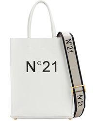 N°21 Pvc スモール ショッピングバッグ - ホワイト