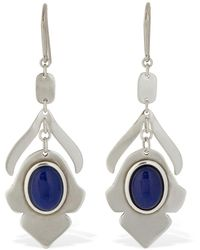 Isabel Marant Pendants D'oreilles En Pierres - Bleu