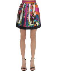 Versace Bedruckter Minirock Aus Seidentwill - Mehrfarbig