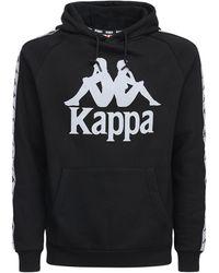 Kappa Sweat-shirt Réfléchissant En Coton Avec Capuche - Noir