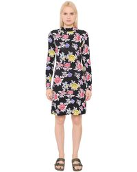 House of Holland Rose Printed Viscose Jersey Dress - Multicolour