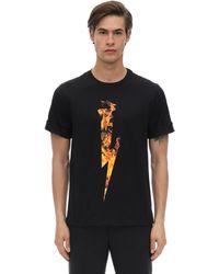 """Neil Barrett T-Shirt mit """"Fire Lightning""""-Print - Schwarz"""