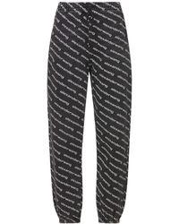 Alexander Wang Oversized Denim Sweat Pants - Gray