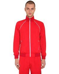Prada Trainingsjacke Aus Techno Mit Zip - Rot